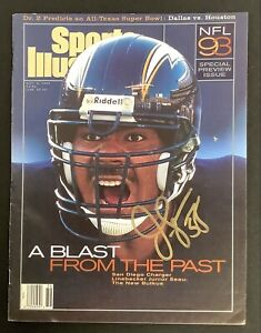 Junior Seau Signed Sports Illustrated 9/6/93 No Label Chargers Autograph HOF JSA