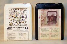 8 Track Tape Tapes Led Zeppelin and Led Zeppelin 3 Set of 2