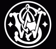 """Smith and wesson Hand Gun Pistol ammo Logo Vinyl Decal Sticker 5"""""""