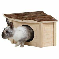 Eckhaus für Nager Meerschweinchen Kaninchen Kaninchenhaus Nagerhaus Naturholz
