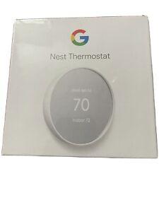 Google Nest Smart Thermostat - Snow - Sealed In Shrink Wrap