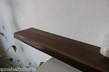 Wandboard Nussbaum Massiv Holz Board Regal Steckboard Regalbrett NEU Baumkante !