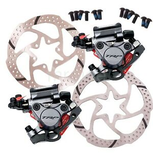 TRP HY/RD Cable-Actuated Hydraulic Road Bike Disc Brake Gray Front,Rear 160/140