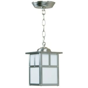 Craftmade Outdoor Mission Small Pendant, Stainless Steel - Z1841-SS