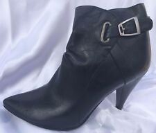 Ladies Size 7.5 Black, High Heel Ankle Boot