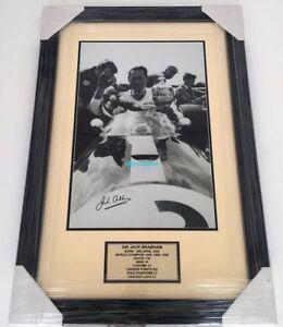 The Late Jack Brabham original hand signed photo professionally framed with COA