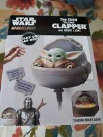 New Disney Star Wars Mandalorian The Child Talking Clapper with Night Light MIB
