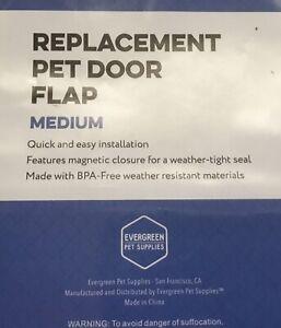 Evergreen Pet Supplies Medium Replacement Door Flap for Dog Weather Resistant