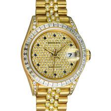 Rolex - 18kt золото президента Datejust паве Diamond & Sapphire 69238-Сант бланк