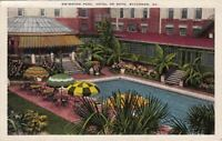 Postcard Swimming Pool Hotel de Soto Savannah GA