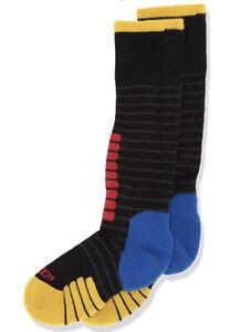 NWT Eurosock Unisex Youth Supreme Ski Socks, Black/Yellow Size 3XS
