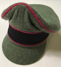 "WWII GERMAN WAFFEN M1938 EARLY WAR WOOL VISOR ""CRUSHER"" CAP, PANZER-MEDIUM"