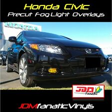 12-13 Civic SI COUPE Yellow Fog Light Overlays TINT Mugen EDM JDM Vinyl Film FG2