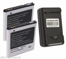 2x replacement Battery and Wall Charger for Samsung Galaxy S Captivate SGH-I897