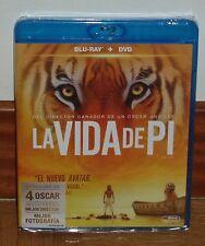 LA VIDA DE PI-LIFE OF PI-COMBO BLU-RAY+DVD-NUEVO-PRECINTADO-AVENTURAS-4 OSCAR