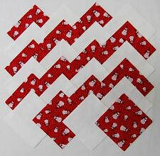 "40 4"" TINY SNOWMEN Fabric Quilt Squares Quilting Snowman Christmas Snow Red Kit"