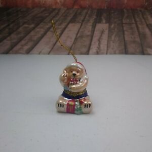 Mr. Christmas Photo Music Box Christmas Tree Ornament Teddy Bear