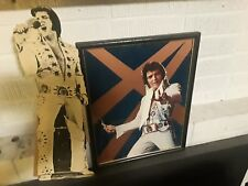 ELVIS PRESLEY 1976 SIGN FROM CONCERT AND STANDEE AND DOLL 1970S ELVIS