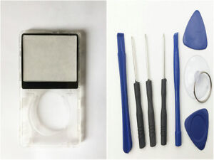 For iPod Classic 5th gen iPod Video Clear Front Cover + Tools