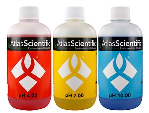 Atlas Scientific pH 4.00, 7.00, 10.00 Calibration Solution 250ml (8oz)