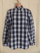 """Gap size M """"the lived in wash"""" purple, white check long sleeved collared shirt"""