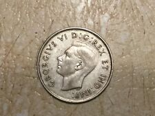 "1946 Canada 50 Cent Coin Fifty Silver Half Dollar ERROR Die Break in ""6"" Lot"