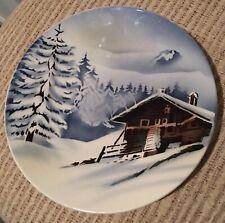 Alpine Snow Cabin Plate