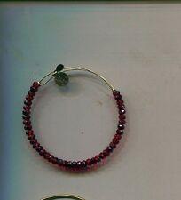 garnet luminary glass bracelet Alex & Ani gold red