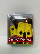 John Deere Boots Johnny Poppers Size 2 Tan/Yellow