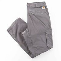 CARHARTT Force Grey Woven Relaxed Straight Pants Mens W36 L32
