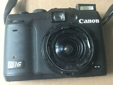 Canon PowerShot G16 12.1MP Digital Camera Black - NOT WORKING & FOR PARTS ONLY