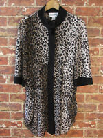Joseph Ribkoff sz US 8 Animal Print Mesh Tunic Dress Leopard