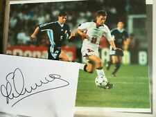 Michael Owen - Manchester United, Liverpool, England Signed Card & 10x8 Photo