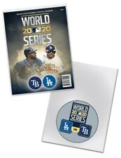 2020 OFFICIAL MLB WORLD SERIES PROGRAM DODGERS RAYS W/ COMMEMORATIVE SLEEVE