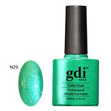 GDI NAILS - SUBTLE NUDE AND VIBRANT NEON GLOW UV LED SOAK OFF GEL NAIL POLISH
