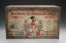 Seltene Blechdose Bremer Kolonialhaus FOLOFF & Co. BREMEN wohl um 1910