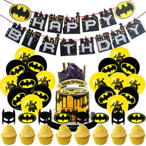 Batman Party Set Party Supplies Banner Cake Toppers Balloons Decoration