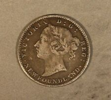 1890 Newfound 10 Cents Silver Circulated Nice           ** FREE U.S. SHIPPING **