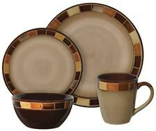 16 Piece Dinnerware Set, Cream Service for 4 Microwave/ Oven/ Dishwasher Safe