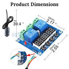 New Dc 12v Dual Digital Led Temperature Amp Humidity Control Thermostat Probe