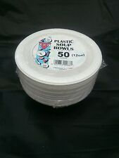 100 X White Plastic Disposible Bowl 12oz/ 15Cm for party and all occasions