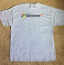 Microsoft Windows XP 64 Bit Men's XL Gray T Shirt VTG Computer Promo NOS