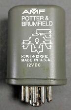 Potter & Brumfield KR-14DGE (KR14DGE) 12V DC 11-Pin **NOS**