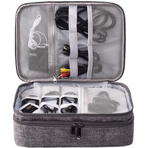 3 Layer Electronics Organizer Bag Electronics Travel Organizer Bag for Cables