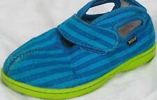 BOGS Baby Canvas Stripe Shoes Kids Boys Girls Unisex Size 10 Blue Green