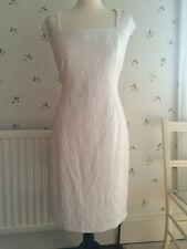 New Phase Eight White Jacquard Pencil Dress Size 16 women's Cruise Party Wedding