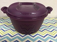 Tupperware Large Microwave Rice Maker/Cooker Steamer 12 Cups Plum New