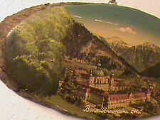 Rare Vintage Europe Hand Painted Wood Art Picture