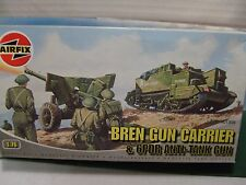 AIRFIX UNIVERSAL CARRIER & 6 PDR ATGUN KIT 1:72 VGC. BOXED. AS NEW