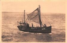 Back from fishing Ship Boat, Retour de peche, Terug van de visvangst 1950s